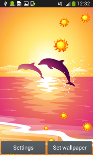 Dolphins Live Wallpapers screenshot 2