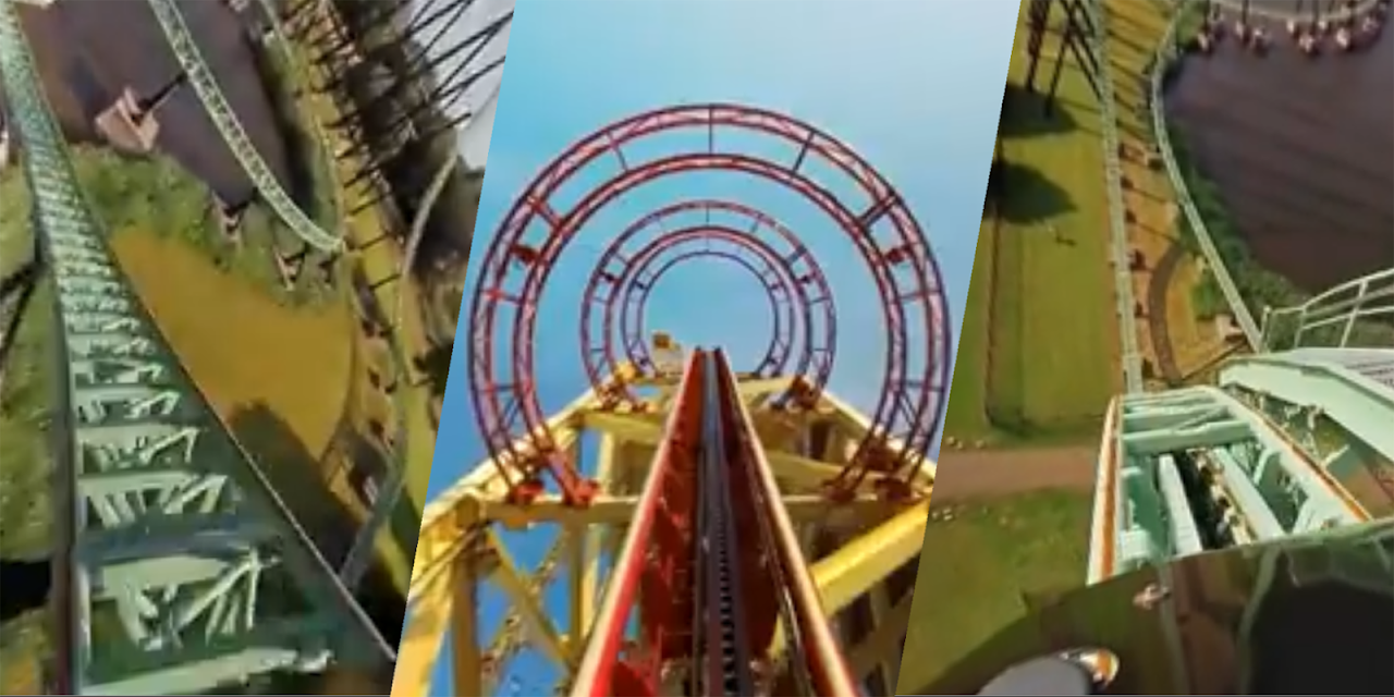 VR Thrills: Roller Coaster 360 (Google Cardboard) screenshot 2