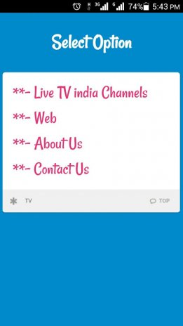 Live TV India Channels & Movie 1 0 Download APK for Android