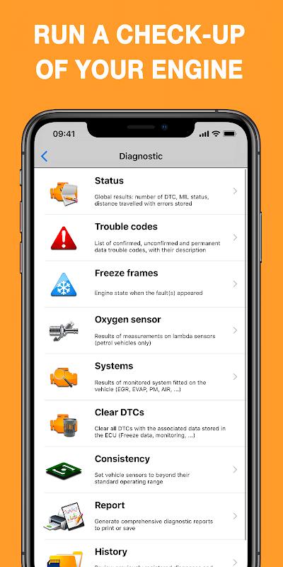 EOBD Facile - OBD 2 Car Diagnostic for elm327 Wifi screenshot 2