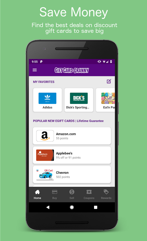 Gift Card Granny - Buy & Sell Discount Gift Cards screenshot 1
