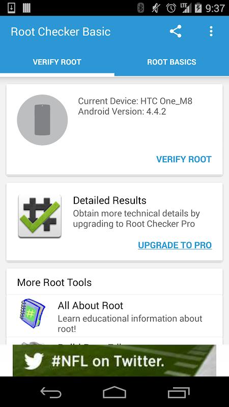 Root Checker Basic screenshot 1