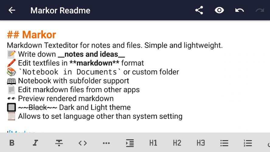 Markor: Markdown Editor - todo.txt - Notes Offline screenshot 7