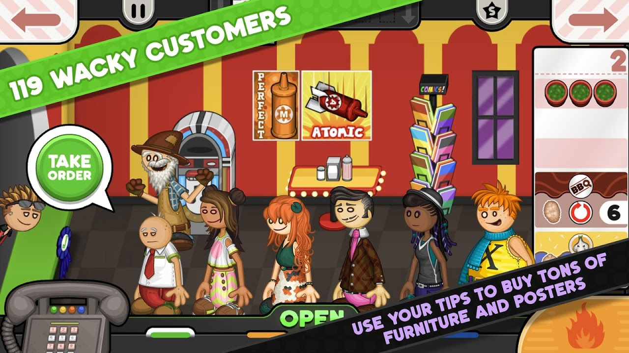 Papa's Wingeria To Go! screenshot 2