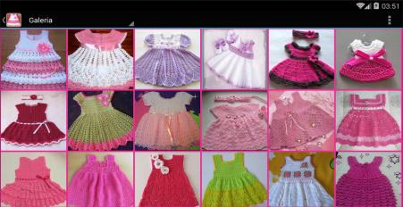 vestidos tejidos de bebe screenshot 6