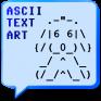 ascii text art icon