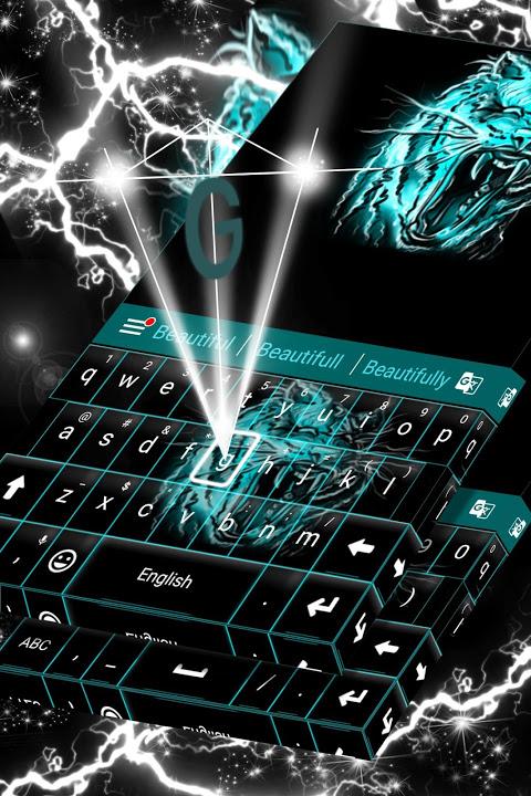 Neon Keyboard Tiger screenshot 1