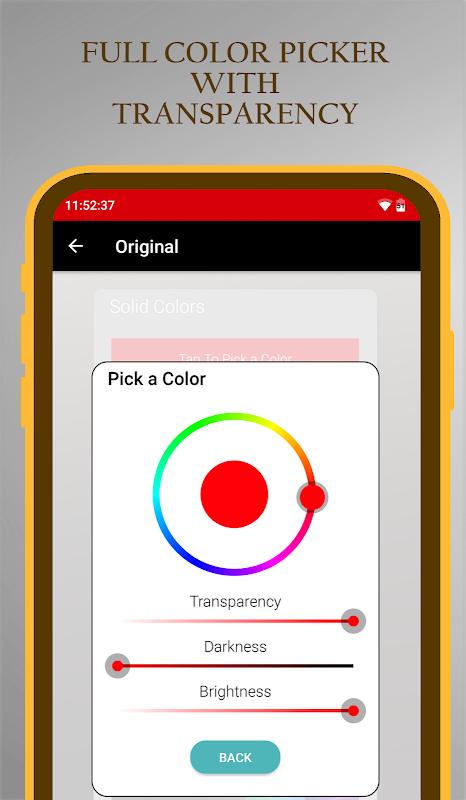 Status Bar & Notch Custom Colors and Backgrounds💙 screenshot 1