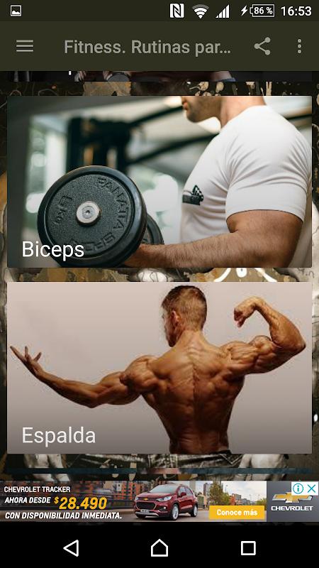 Fitness. Rutinas para el Gym screenshot 2