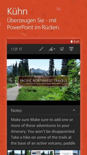 Microsoft PowerPoint: Präsentationsfolien screenshot 1