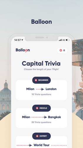 Balloon Game - Capital World Quiz screenshot 3