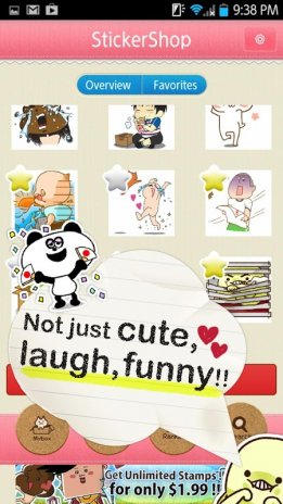 Screenshot sticker shop for line facebook 2