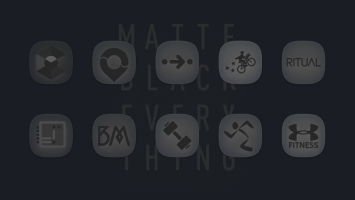 Matte Black Icon Pack Screen