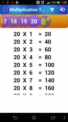 Worksheet 2 To 20 Tables Download multiplication tables for kids 1 7 download apk android aptoide screenshot 2