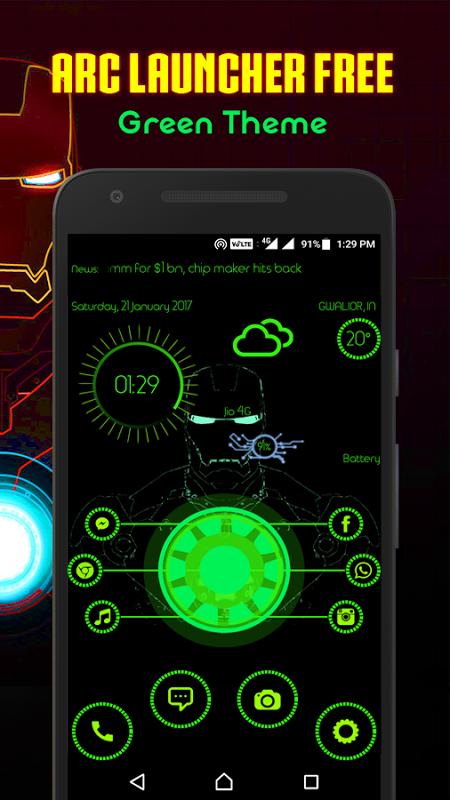 ARC Launcher Theme No Ads screenshot 1