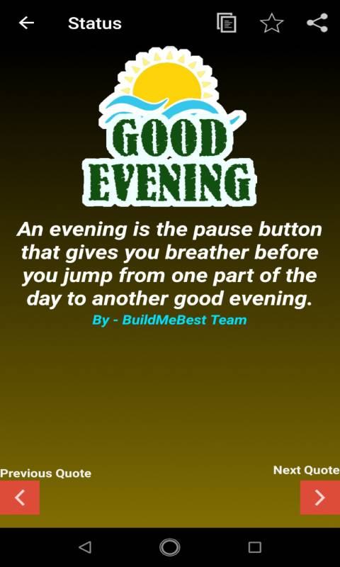 good evening wishes quotes status new sms apk for