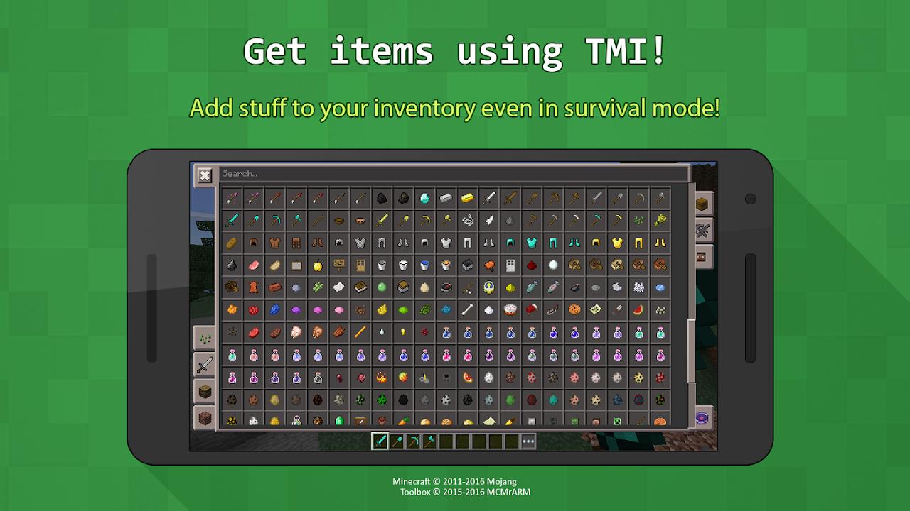 Toolbox per Minecraft: Pocket Edition screenshot 2