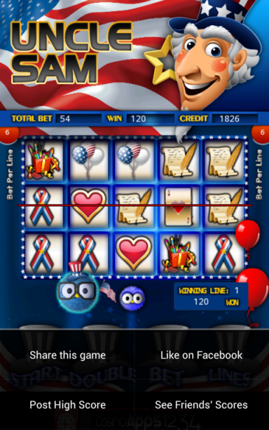 uncle sam slot machine online