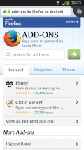 Firefox Browser for Android Screenshot