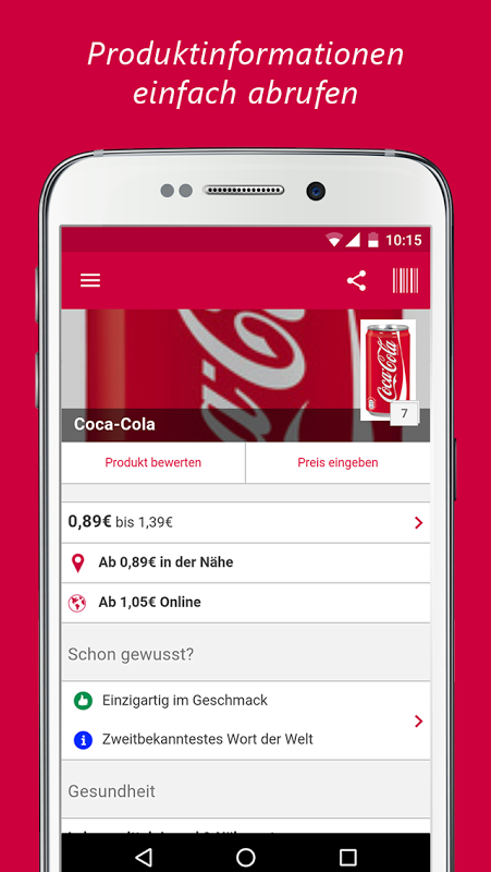 barcoo - QR Scanner. Inhalte per Barcode checken screenshot 2