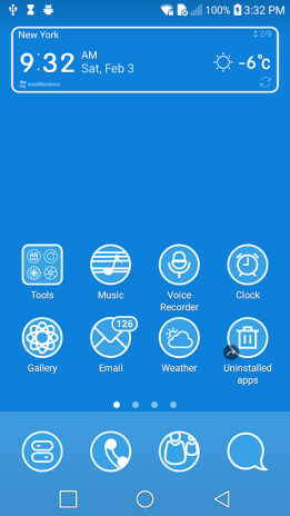 Blue Theme for LG G6 G5 V30 V20 G4 G3 G2 V10 K101 0 tải APK