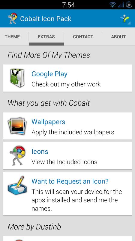 Cobalt Icon Pack screenshot 1