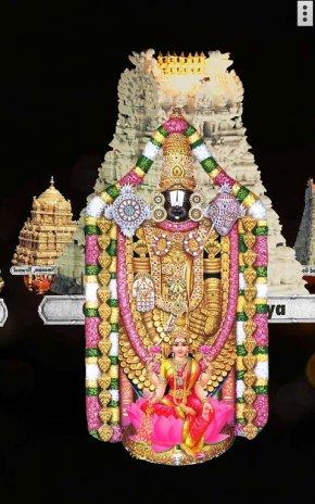 4d Tirupati Balaji Sri Venkateswara Live Wallpaper Screenshot 11