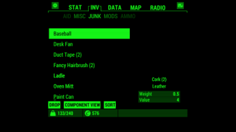 Fallout Pip-Boy Screenshot