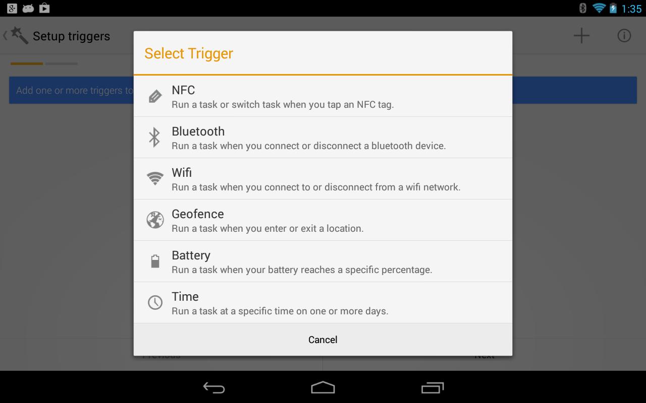 Trigger screenshot 2