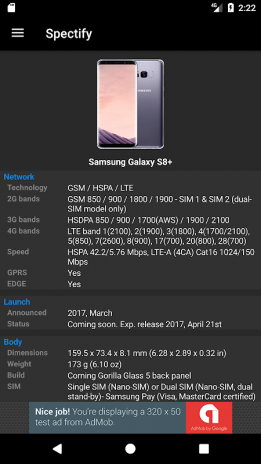 Spectify - Smartphone Specifications Finder 1 16 3 Download