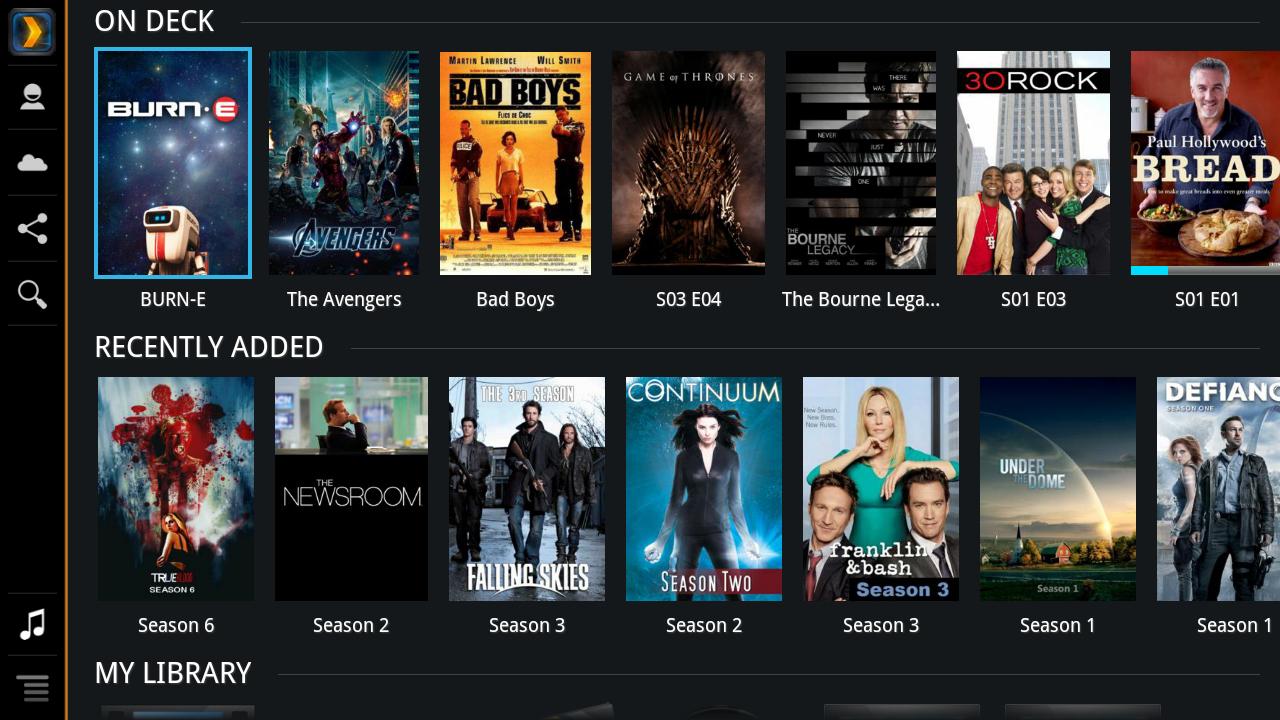 Plex for Sony Internet TV screenshot 1