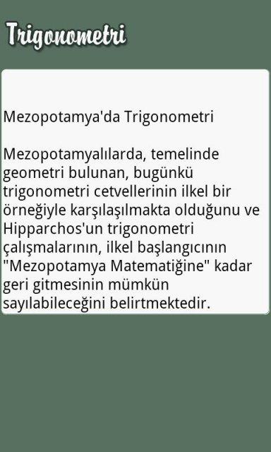 Trigonometri | Download APK for Android - Aptoide