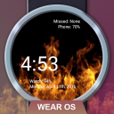 Flames Watch Face - Wear OS Smartwatch - Animated