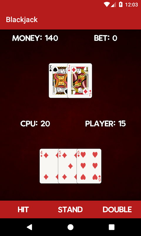 Simple Blackjack screenshot 2