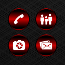 Delight Red Icons