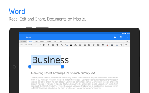 Polaris Office - Word, Docs, Sheets, Slide, PDF screenshot 1