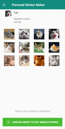 Personal Stickers - Let photo to personal sticker. screenshot 1