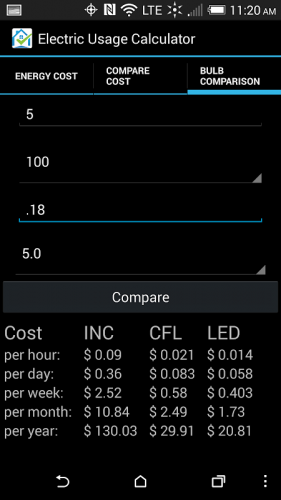 Electricity Cost Calculator 1 0 Download Apk Android Aptoide