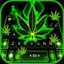 Neon Weed Smoke Keyboard Theme