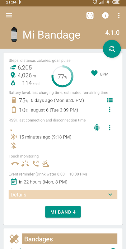Mi Bandage - Mi Band & Amazfit support screenshot 2