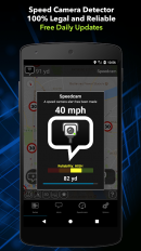 radarbot free speed camera detector speedometer screenshot 1