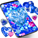 Blue hearts diamonds wallpaper