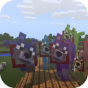 Colorful Mutant Wolves addon for MCPE