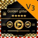 Golden glitter PlayerPro Skin