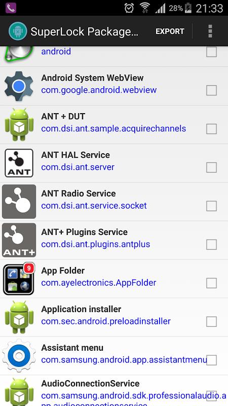 Package Disabler Pro (Samsung) screenshot 2