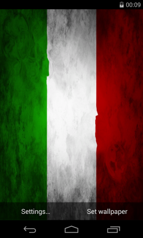 flag of italy live wallpaper screenshot 1 ...