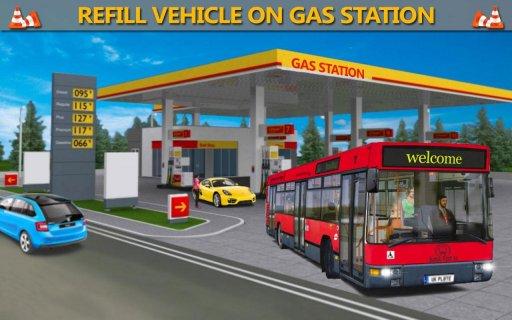 Gas Station Public Transport Simulator screenshot 1