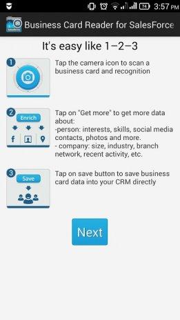 Businesscard reader salesforce 11120 baixar apk para android aptoide businesscard reader salesforce captura de tela 1 reheart Gallery