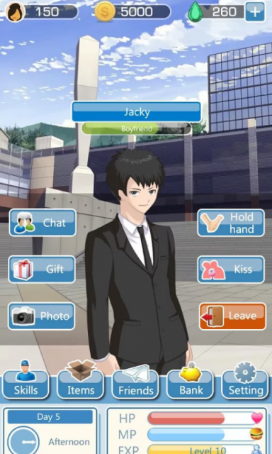 dating simulator app for guys