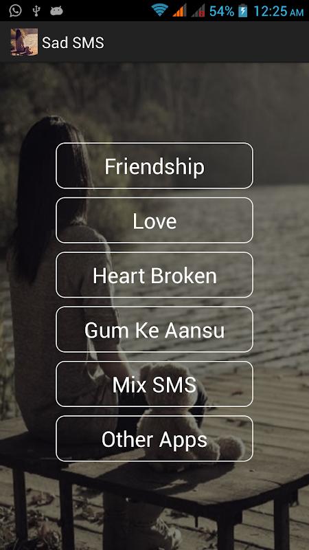 Sad text sms